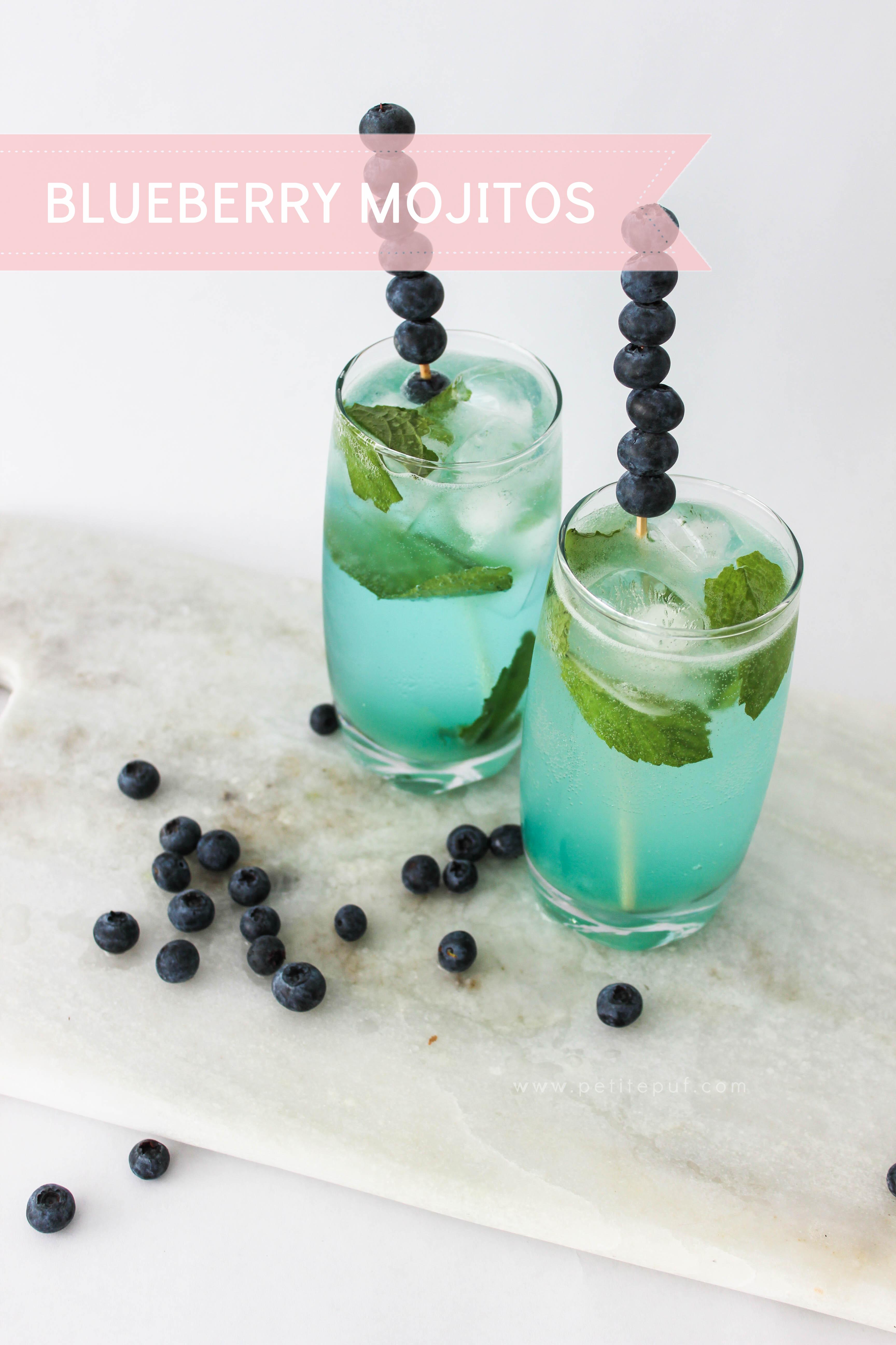 PetitePuf Kitchen: Blueberry Mojitos | Petite Puf